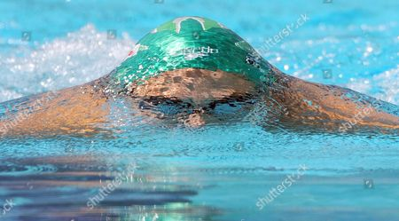 Austria's Mirna Jukic Competes in a Women's 100m Breaststroke Prelim Heat at the Fina Swimming World Championships in Rome Italy 27 July 2009 Italy Rome