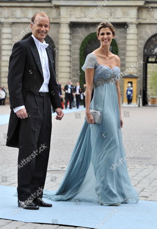 Prince Kyril of Bulgaria and His Wife Rosario Nadal Arrive to Stockholm's Storkyrkan Cathedral For the Wedding of Crown Princess Victoria of Sweden and Daniel Westling in Stockholm Sweden 19 June 2010 the Bridal Couple Shares the June 19 Wedding Date with Princess Victoria's Parents King Carl Xvi Gustaf and Queen Silvia who Married on 19 June 1976 in the Same Cathedral Sweden Stockholm