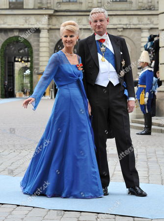 Swedish Politician and Diplomat Carl Bildt and Wife Anna Maria Corazza Bildt Arrive to Stockholm's Storkyrkan Cathedral For the Wedding of Crown Princess Victoria of Sweden and Daniel Westling in Stockholm Sweden 19 June 2010 the Bridal Couple Shares the June 19 Wedding Date with Princess Victoria's Parents King Carl Xvi Gustaf and Queen Silvia who Married on 19 June 1976 in the Same Cathedral Sweden Stockholm