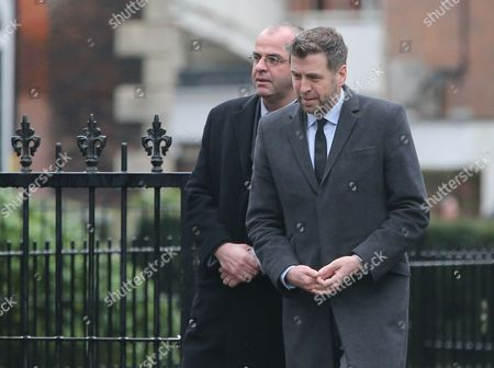 Mark Chapman at the funeral service of Graham Taylor former Watford and England manager at St. Marys Church, Watford