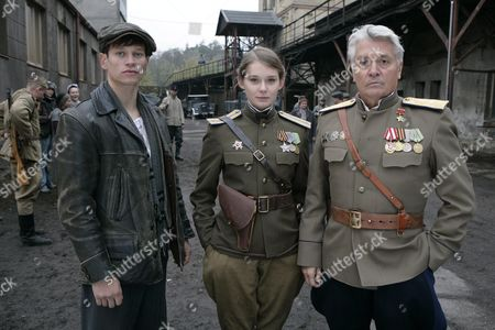 Stock Picture of A Photo Made Available 26 October 2009 Shows Actors Vinzenz Kiefer Nadja Bobyleva and Henry Huebchen Pictured During the Shooting of the German Television Film 'Uranberg' in Kladno Czech Republic 20 October 2009 the Period Piece Deals with the Beginnings of the Cold War the Arms Race and the Soviet Controlled Wismut Ag in the German Democratic Republic 'Uranberg' is Directed by Dror Zahavi and Will Be Produced by Saxonia Media in Germany and the Czech Republic Until November 2009 the Movie Will Presumably Be Broadcasted Early in 2011 by Arte and Ard Czech Republic Kladno