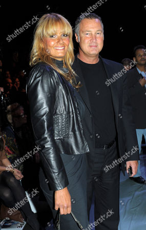 German Former Swimmer Franziska Van Almsick and Partner Juergen B Harder Pose Prior the Unrath & Strano Fashion Show During the Mercedes-benz Fashion Week in Berlin Germany 20 January 2011 the Presentation of the Fall-winter 2011 Collections Takes Place From 19 to 22 January Germany Berlin