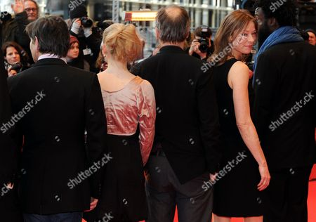Dutch Actor Pierre Bokma (l-r) Actress Maria Elise Miller French Actor Hippolyte Girardot German Actress Jenny Schily and French Actor Jean-christophe Folly Arrive at the Premiere of the Film 'Schlafkrankheit' (sleeping Sickness) During the 61st Berlin International Film Festival in Berlin Germany 12 February 2011 the Film by Ulrich Koehler is Presented in Competition at the 61st Berlinale That Runs From 10 to 20 February Germany Berlin
