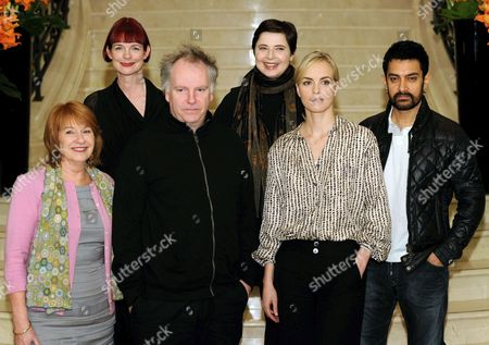 Jury Members Australian Producer Jan Chapman (l-r) British Costume Designer Sandy Powell Canadian Film Director Guy Maddin Italian Actress Isabella Rossellini German Actress Nina Hoss and Indian Actor Aamir Khan Arrive For the First Jury Meeting of the 61st International Berlin Film Festival in Berlin Germany 09 February 2011 the 61st Berlinale Takes Place From 10 to 20 February 2011 Germany Berlin