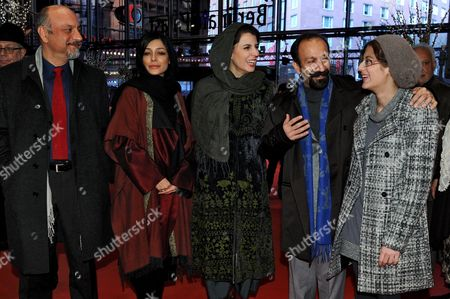 Iranian Actors Babak Karimi (l-r) Sareh Bayat and Leila Hatami Iranian Director Asghar Farhadi and Iranian Actress Sarina Farhadi Arrive For the Premiere of Their Movie 'Jodaeiye Nader Az Simin (nader and Simin a Separation)' During the 61st Berlin International Film Festival in Berlin Germany 15 February 2011 the Movie is Presented in Competition at the 61st Berlinale Running From 10 to 20 February Germany Berlin