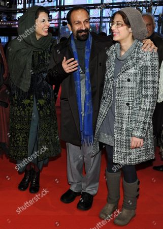 Iranian Actress Leila Hatami (l-r) Iranian Director Asghar Farhadi and Iranian Actress Sarina Farhadi Arrive For the Premiere of Their Movie 'Jodaeiye Nader Az Simin (nader and Simin a Separation)' During the 61st Berlin International Film Festival in Berlin Germany 15 February 2011 the Movie is Presented in Competition at the 61st Berlinale Running From 10 to 20 February Germany Berlin