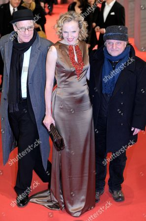 Stock Photo of German Actors August Zirner (l-r) Maria Schrader and Axel Prahl Arrive For the Premiere of the Film 'True Grit' During the 61st Berlin International Film Festival in Berlin Germany 10 February 2011 the Film Has Been Selected As the Berlinale's Opening Film the 61st Berlinale Takes Place From 10 to 20 February 2011 Germany Berlin