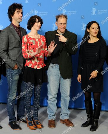 Us Actor Hamish Linklater (l-r) Us Director Miranda July Us Actor David Warshofsky and Producer Gina Kwon Pose During the Photocall For the Film 'The Future' During the 61st Berlin International Film Festival in Berlin Germany 15 February 2011 the Film is Shown in the Competition of the International Film Festival the 61st Berlinale Takes Place From 10 to 20 February 2011 Germany Berlin