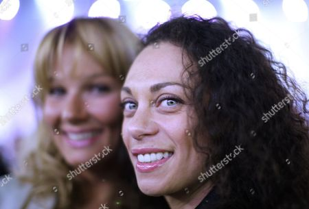Stock Image of Former German Olympic Swimmer Franziska Van Almsick (l) Lilly Becker (r) Wife of Former German World No 1 Professional Tennis Player Boris Becker (not Pictured) Attend the World Boxing Council (wbc) Heavyweight Title Boxing Match Between Ukrainian Title Holder Vitali Klitschko and Cuban Odlanier Solis in Der Lanxess Arena in Cologne Germany on 19 March 2011 Vitali Klitschko Retained His Title with a First Round Knock out Germany Cologne