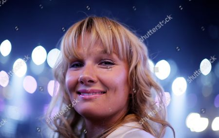 Former German Olympic Swimmer Franziska Van Almsick Attends the World Boxing Council (wbc) Heavyweight Title Boxing Match Between Ukrainian Title Holder Vitali Klitschko and Cuban Odlanier Solis in Der Lanxess Arena in Cologne Germany on 19 March 2011 Vitali Klitschko Retained His Title with a First Round Knock out Germany Cologne
