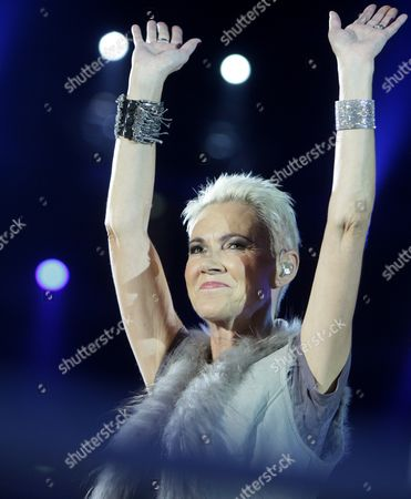 Swedish Pop Singer-songwriter and Pianist Marie Frederiksson From the Pop-duo Roxette Sings in the Ring Before the World Boxing Council (wbc) Heavyweight Title Boxing Match Between Ukrainian Title Holder Vitali Klitschko and Cuban Odlanier Solis in Der Lanxess Arena in Cologne Germany on 19 March 2011 Vitali Klitschko Retained His Title with a First Round Knock out Germany Cologne