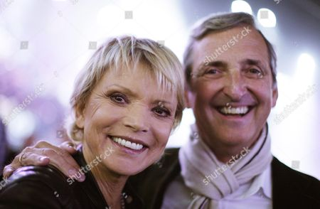 Stock Photo of German Actress Uschi Glas and Her Husband Dieter Hermann Attend the World Boxing Council (wbc) Heavyweight Title Boxing Match Between Ukrainian Title Holder Vitali Klitschko and Cuban Odlanier Solis in Der Lanxess Arena in Cologne Germany on 19 March 2011 Vitali Klitschko Retained His Title with a First Round Knock out Germany Cologne
