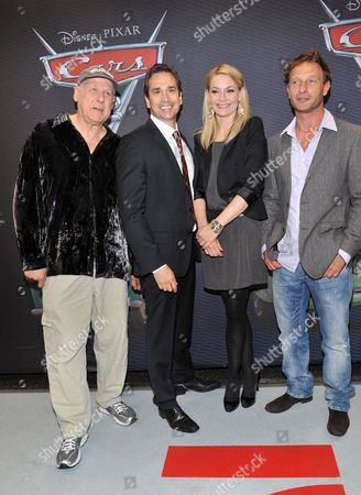 From (l-r) German Director Reinhard Brock German Actor Manou Lubowski German Actress Martina Hill and German Actor Thomas Kretschmann Arrrive For the Premiere of the Movie 'Cars 2' at the Mathaeser Filmpalast in Munich ágermany 28 July 2011 the Movie Directed by Us Directors John Lasseter and Brad Lewis Will Be Released in German Theaters on 28 July 2011 Germany Munich