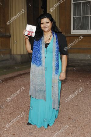 Playwright Tanika Gupta who received an MBE for services to drama.