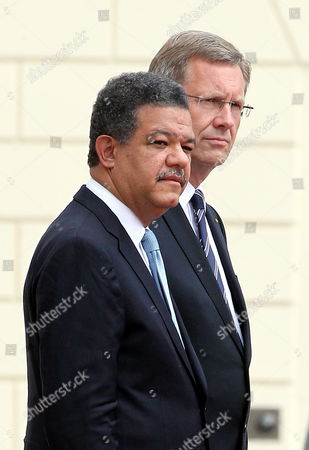 German President Christian Wulff (r)áwelcomes Dominican Republic Leonel Fernandez Reyna (l)áwith Military Honours to Bellevue Palace in Berlin Germany 05 July 2010 Mr Fernandez Reyna is on a Two-day Visit to Germany Germany Berlin