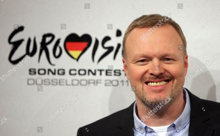 German Television Host Stefan Raab Poses After the Final of the Show 'Unser Song Fuer Deutschland' (lit : Our Song For Germany) in Cologne Germany 18 February 2011 German Singer Lena Meyer-landrut Will Perform the Song Taken by a Stranger That the Television Viewer Selected During the Ard Channel Show at the 2011 Eurovision Song Contest Which is to Be Held in Duesseldorf on 14 May Germany Cologne