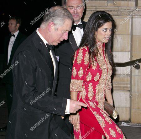 Prince Charles and Princess Badiya bint El Hassan of Jordan