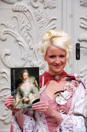 German Actress Jasmin Altmann who Played on the Role As Sophie Charlotte Presents a Publication About the Queen Sophie Charlotte in Mirow Germany 17 June 2011 Queen Sophie Charlotte of Mecklenburg-strelitz (1744-1818) Became British Queen 250 Years Ago Germany Mirow