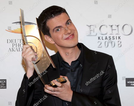 French Singer Philippe Jaroussky Poses with His Award For Singer of the Year at the Echo Classic Award in Munich Germany 19 October 2008 the Echo Classic is Awarded by the German Phono Academy the Culture Institute of the German Phono Industry For the 15th Time This Year in 20 Categories Germany Munich