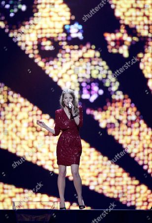 Anna Rossinelli Representing Switzerland Performs During the First Dress Rehearsal For the First Semi-final of the Eurovision Song Contest in Duesseldorf Germany 09 May 2011 the Final of the 56th Eurovision Song Contest Takes Place on 14 May 2011 Germany Duesseldorf