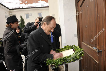 Prince Etzel of Bavaria Signs the Condolences Book at the Burial of Presenter Petra Schuermann at the Cemetery in Aufkirchen Germany 19 January 2010 Schuermann Died Aged 76 on 14 January 2010 Germany Aufkirchen