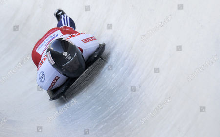 Britian's Kristan Bromley Competes in the Men's Skeleton World Championships 2011 in Koenigssee Germany 24 February 2011 Germany Koenigssee
