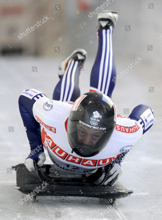 Stock Image of Great Britain's Kristian Bromley Competes in the Men's Skeleton World Championships 2011 in Koenigssee Germany 24 February 2011 Germany Koenigssee