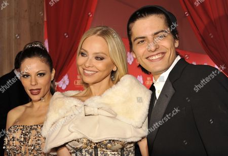 A Photograph Made Available on 05 December 2010 Showing Ornella Muti Italian Actress (c) Her Son Andrea and Her Daughter Naike Rivelli Attend a Charity Gala Celebrating St Barbara's Day in Munich Germany 04 December the Donations of the Evening Go to Sos Children's Villages Germany Germany Munich