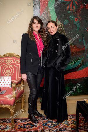 Stock Picture of Ortensia Visconti and Daniela Agnelli