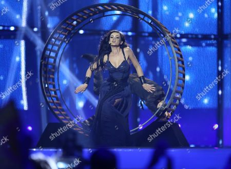 Mariya Yaremchuk Representing Ukraine Performs During the 59th Annual Eurovision Song Contest (esc) at the B&w Hallerne in Copenhagen Denmark 10 May 2014 Sixteen Countries Are Competing in the Grand Finale Denmark Copenhagen