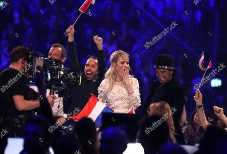 Sanna Nielsen Representing Sweden (c) Reacts During the Voting of the Grand Final of the 59th Annual Eurovision Song Contest (esc) at the B&w Hallerne in Copenhagen Denmark 10 May 2014 Denmark Copenhagen