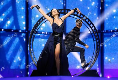Mariya Yaremchuk Representing Ukraine Performs During the First Rehearsal For the Grand Final of the 59th Annual Eurovision Song Contest in Copenhagen Denmark 09 May 2014 the Grand Final Will Take Place on 10 May Denmark Copenhagen