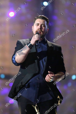 Stock Image of Carl Espen Representing Norway Performs During the First Rehearsal For the Grand Final of the 59th Annual Eurovision Song Contest in Copenhagen Denmark 09 May 2014 the Grand Final Will Take Place on 10 May Denmark Copenhagen