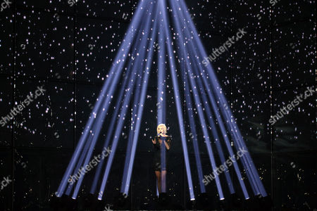 Sanna Nielsen Representing Sweden Performs During Grand Final of the 59th Annual Eurovision Song Contest (esc) at the B&w Hallerne in Copenhagen Denmark 10 May 2014 Sixteen Countries Are Competing in the Grand Finale Denmark Copenhagen