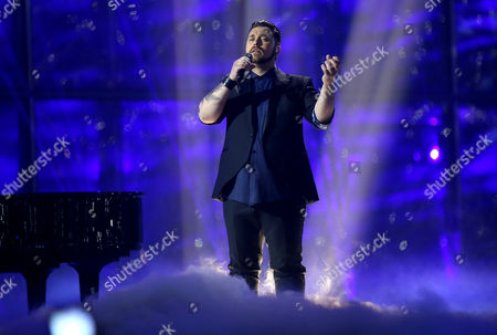 Carl Espen Representing Norway Performs During Grand Final of the 59th Annual Eurovision Song Contest (esc) at the B&w Hallerne in Copenhagen Denmark 10 May 2014 Sixteen Countries Are Competing in the Grand Finale Denmark Copenhagen
