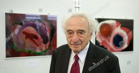 Author Painter and Holocaust Survivor Max Mannheimer Stands in Front of Two of His Pictures During the Opening of His Exhibition in Munich Germany 06 September 2012 Mannheimer Has Been Painting For Decades Germany Munich