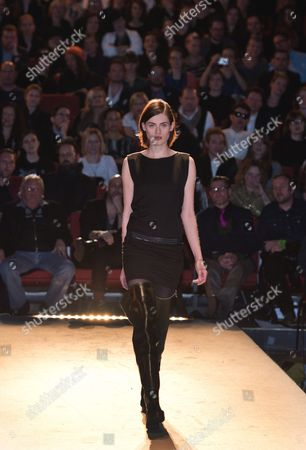 A Model Presents a Creation by Esther Perbandt During Berlin Fashion Week in Berlin Germany 15 January 2014 Fall-winter 2014/15 Collections Are Presented at the Event From 14 to 17 January Germany Berlin