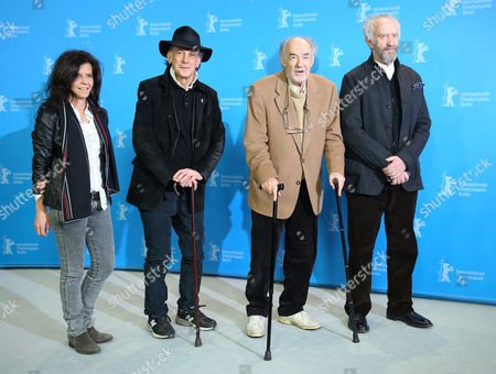 Uruguayan Composer Florencia Di Concilio (l-r) Us Cinematographer Ed Lachman Dutch Director George Sluizer and British Actor Jonathan Pryce Pose at the Photocall For 'Dark Blood' During the 63rd Annual Berlin International Film Festival in Berlin Germany 14 February 2013 the Movie is Presented in Competition out of Competition at the Berlinale Germany Berlin