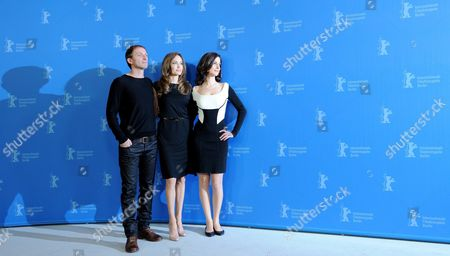 Us Actress and Director Angelina Jolie (c) Poses with Bosnian Serb Actor Goran Kostic and Bosnian Actress Zana Marjanovic During the Photocall For the Movie 'In the Land of Blood and Honey' During the 62nd Berlin International Film Festival in Berlin Germany 11 February 2012 the Movie is Presented in the Section Panorama Special at the 62nd Berlinale Running From 09 to 19 February Germany Berlin