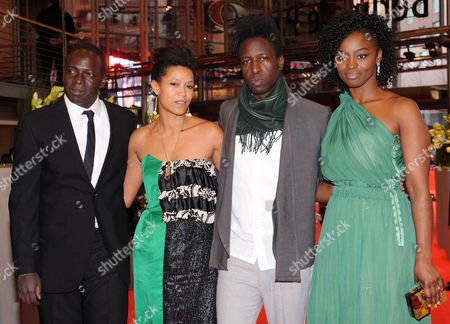 Actors Djolof M'bengue (l-r) Anisia Uzeyman Saul Williams and Aissa Maiga Arrive For the Premiere of 'Tey (aujourd'hui)' During the 62nd Berlin International Film Festival in Berlin Germany 10 February 2012 the Movie is Presented in Competition at the Berlinale That Runs From 09 to 19 February Germany Berlin