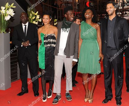 Actor Djolof M'bengue Anisia Uzeyman (l-r) Saul Williams Aissa Maiga and Director Alain Gomis Arrive For the Premiere of Their Movie 'Tey (aujourd'hui)' During the 62nd Berlin International Film Festival in Berlin Germany 10 February 2012 the Movie is Presented in Competition at the Berlinale That Runs From 09 to 19 February Germany Berlin