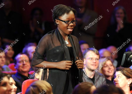Actress Rachel Mwanza Receives the Award For Best Actress (silver Bear) For the Movie 'War Witch' ('rebelle') During the Awarding Ceremony of the 62nd Berlin International Film Festival in Berlin Germany 18 February 2012 a Total of 18 Movies Are Competing For the Berlinale's Golden Bear For Best Picture the 62nd Berlinale Takes Place From 09 to 19 February Germany Berlin