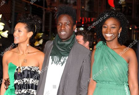 Actors Anisia Uzeyman (l-r) Saul Williams and Aissa Maiga Arrive For the Premiere of 'Tey (aujourd'hui)' During the 62nd Berlin International Film Festival in Berlin Germany 10 February 2012 the Movie is Presented in Competition at the Berlinale That Runs From 09 to 19 February Germany Berlin