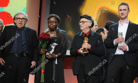 Awardees Italian Directors Vittorio Taviani (2nd R) and Paolo Taviani (l) and Actors Rachel Mwanza of Congo and Mikkel Boe Folsgaard of Denmark Pose During the Awarding Ceremony of the 62nd Berlin International Film Festival in Berlin Germany 18 February 2012 a Total of 18 Films Competing For the Berlinale's Prestigious Golden Bear For Best Picture About 400 Films Are Shown Every Year As Part of the Berlinale's Public Programme Germany Berlin