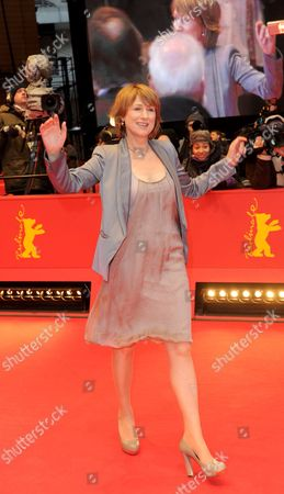 German Actress Corinna Harfouch Arrives For the Premiere of 'Home For the Weekend (was Bleibt)' During the 62nd Berlin International Film Festival in Berlin Germany 14 February 2012 the Movie is Presented in Competition at the 62nd Berlinale That Runs From 09 to 19 February Germany Berlin
