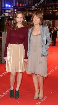 Cast Members Picco Von Groote (l) and Corinna Harfouch Arrive For the Premiere 'Home For the Weekend (was Bleibt)' During the 62nd Berlin International Film Festival in Berlin Germany 14 February 2012 the Movie is Presented in Competition at the 62nd Berlinale That Runs From 09 to 19 February Germany Berlin