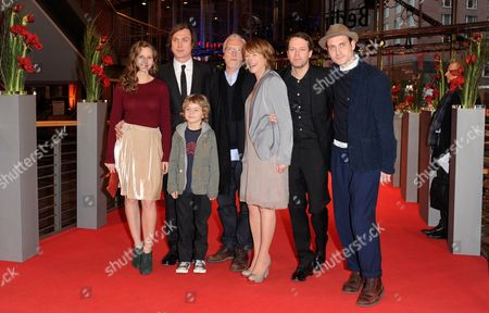 Cast Members Picco Von Groote (l-r) Lars Eidinger Egon Merten (front) Ernst Stoetzner Corinna Harfouch Director Hans-christian Schmid and Actor Sebastian Zimmler Arrive For the Premiere of 'Home For the Weekend (was Bleibt)' During the 62nd Berlin International Film Festival in Berlin Germany 14 February 2012 the Movie is Presented in Competition at the 62nd Berlinale That Runs From 09 to 19 February Germany Berlin