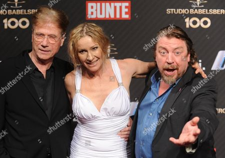 German Actors Juergen Prochnow (l) Actress Birgit Stein (c) and Armin Rohde (r) Arrive For the 100 Years Studio Babelsberg Party During the 62nd Berlin International Film Festival in Berlin Germany 13 February 2012 Germany Berlin