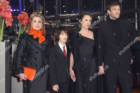 French Actress Catherine Deneuve (l-r) Actor Nemo Schiffman Director Emmanuelle Bercot and Actor Paul Hamy Arrive at the Premiere For 'On My Way' ('elle S'en Va') During the 63rd Annual Berlin International Film Festival in Berlin Germany 15 February 2013 the Movie is Presented in Competition at the Berlinale Germany Berlin