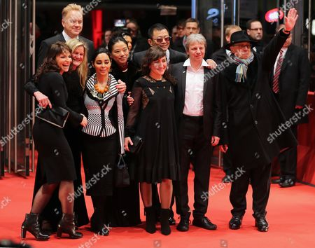 Berlinale Jury Members German Director Andreas Dresen (2-r) Iranian Filmmaker Shirin Neshat (4-l) Danish Director Susanne Bier (l) Us Actor Tim Robbins (2-l) Us Cinematographer Ellen Kuras (3-l) Greek Filmmaker Athina Rachel Tsangari (c) Chinese Director Wong Kar Wai (back C) His Wife Esther (back C-l) and Festival Director Dieter Kosslick Arrive For the Premiere of 'The Grandmaster' (yi Dai Zong Shi') During the 63rd Annual Berlin International Film Festival in Berlin Germany 07 February 2013 the Movie was Selected As the Opening Film For the Berlinale and is Presented in the Official Section out of Competition the Film Festival Runs From 07 to 17 February Germany Berlin